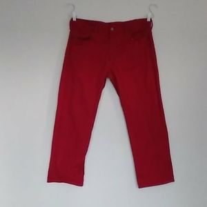 Levi's 569 red jeans size 36x30